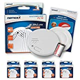 Nemaxx FL10 - Lote de 4 pilas de litio para detector de humo (incluye 4 manes Quickfix)
