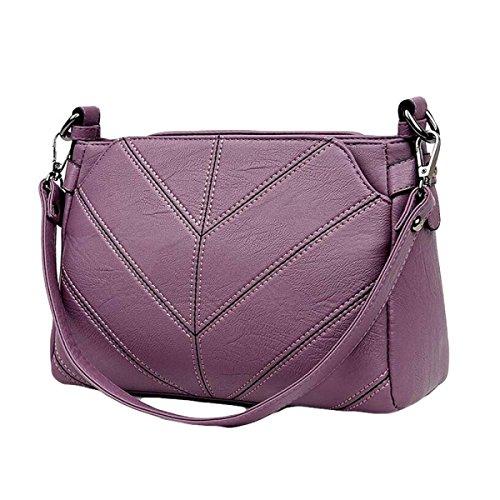 Wildtasche Lingge Dame Tasche Einfache Schultertasche Mode Messenger Tasche Paket Purple