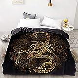BEDSETAAA 3D Hd Printing Benutzerdefinierte Bettbezug, Bettdecke/Steppdecke/Decke Fall Königin König Bettwäsche, Bettwäsche Golden Feather 155x215cm