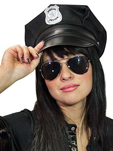 Polizei Mütze Polizist schwarz Einheitsgröße