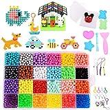 Gudotra 3000 Perlas Kit Abalorios Perlas en 24 Colores Diferentes Cuentas de Agua Manualidades Juguetes para Niños…