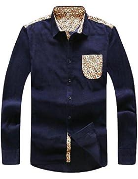 Camisa De Manga Larga Otoño Camisa Suelta Solapa De La Chaqueta De Los Hombres De Gran Tamaño