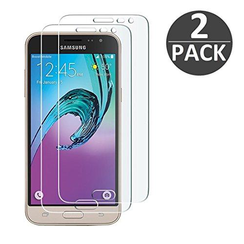 [2 Stück] Samsung Galaxy J3 (2016) Schutzfolie Panzerglas, wortek Panzerfolie [Anti-Kratz, Ultra-Clear HD] 9H Displayschutz Schutzglas