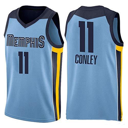 ren-Basketballtrikot - NBA Memphis Grizzlies Swingman Jerseys Ärmelloses T-Shirt Blue-L ()
