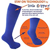 STAY UP Kid's Sports Socks 2 Pairs with Stay On Technology – White XS 3-6 yrs