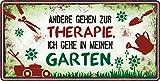 AV Andrea Verlag Großes Metallschild rostfrei Blechschild Schild mit lustigem Spruch im Vintage Retro Look (Therapie 33520)