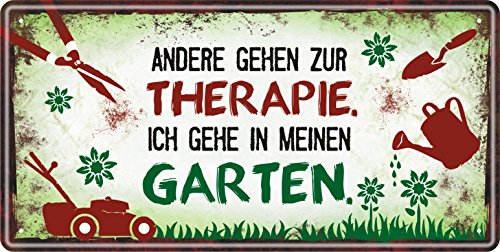 Metallschild (Therapie 33520) für Gärtner