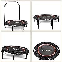 Ancheer Fitness Trampolin mit Griff Indoor Trampolin mit Stange Ideal für Fitness Heimtraining