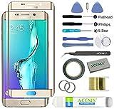 ACENIX® Ersatzdisplay für Samsung Galaxy S6 Edge Plus Gold + 2 mm Klebeband und Öffnungswerkzeug