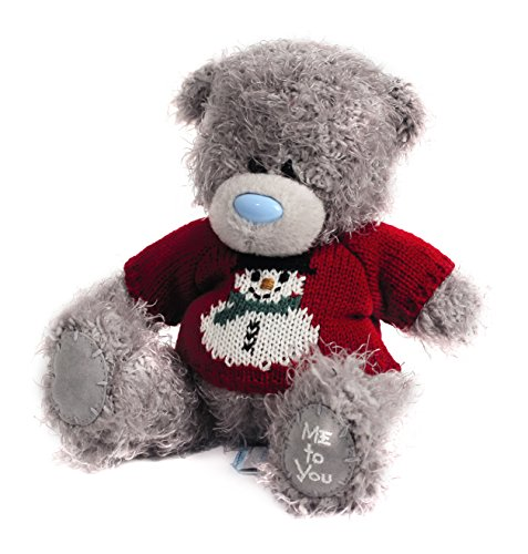"Me to You Tatty Teddy 7 ""Snowman Motif e Teddy Bear che indossa un maglione"