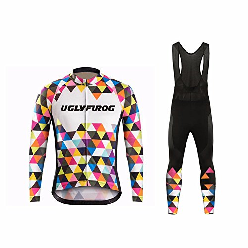 Uglyfrog #BJ18 2017 Männer Radfahren Kleidung Set Kurze Hülse Trikots+Trägerhosen Anzüge Sportbekleidung Autumen with Fleece