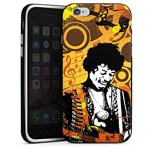 Apple iPhone X Silikon Hülle Case Schutzhülle Musik Jimi Hendrix Gitarre Silikon Case schwarz / weiß