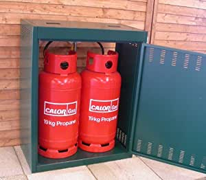 Gas Bottle Storage (Store 2 x 19kg bottles) Propane Gas Storage - Calor Gas approved!