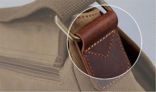 DELLT-Männer neue Retro-Tasche Schultertasche Messenger Bag Men Outdoor Sporttasche Tasche Kreuz Khaki