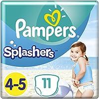 Pampers Splashers Größe4-5, 4er Pack (4 x 11Einweg-Schwimmwindeln)