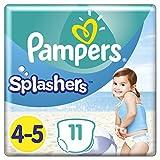 Pampers - Splashers Couches-culottes de Bain Jetables Taille 4-5 - Lot de 4 (x44culottes)