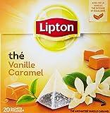 Lipton Thé parfumé Vanille caramel 20 sachets - Lot de 3