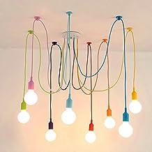 BINJG Vintage Nordic Spider Pendelleuchte Mehrere Verstellbare Retro  Pendelleuchten Loft Klassische Dekorative Leuchte LED LED Hängelampe