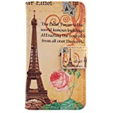 "Lankashi PU Flip Funda De Carcasa Cuero Case Cover Piel Para Uhappy UP580 6.0"" Yellow Tower Design"