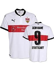 VfB Stuttgart Heim Trikot 17/18 inkl. gratis Beflockung z.B. Terodde, Gentner, Ginczeck, A.Donis, Achtzehn 93 oder Eigenname, alles ist möglich