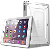 SUPCASE Apple iPad Mini / iPad Mini with Retina Display Case - Beetle Defense Series Full-body Hybrid Protective Cover with Built-in Screen Protector- Dual Layer Design and Impact Resistant Bumper (White/Gray, iPad Mini /iPad Mini with Retina Display)