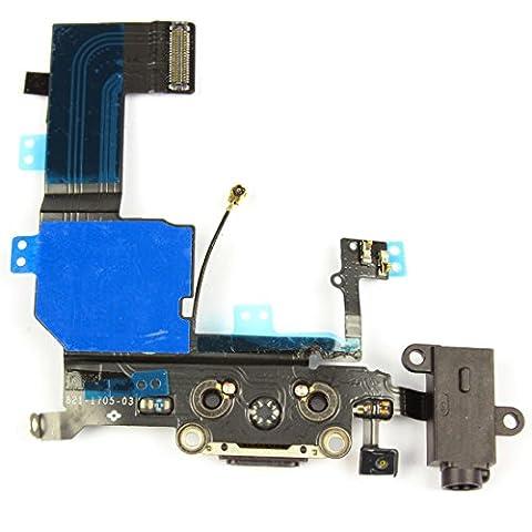 SOSav Connecteur de charge + Prise jack + Micro + Antenne GSM pour iPhone 5C