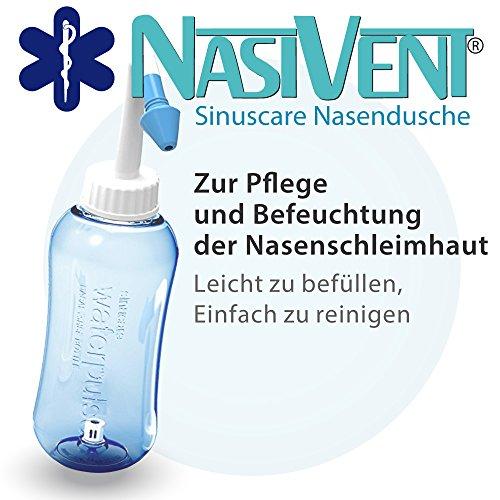 Nasivent Sinuscare - Nasendusche zur Nasenpflege und Befeuchtung der Nasenschleimhaut - Einfach besser pflegen