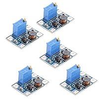 Baoblaze 5 Pieces DC DC Boost Converter Step-up Voltage Regulator Voltage Stabilizer Adjustable Power Supply 2V-24V to 5V-35V
