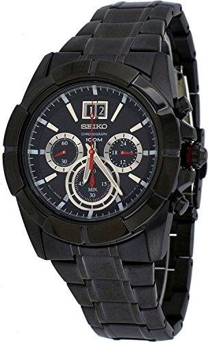Seiko Lord Quartz Black Dial Chronograph Date Watch for Men SPC103P1