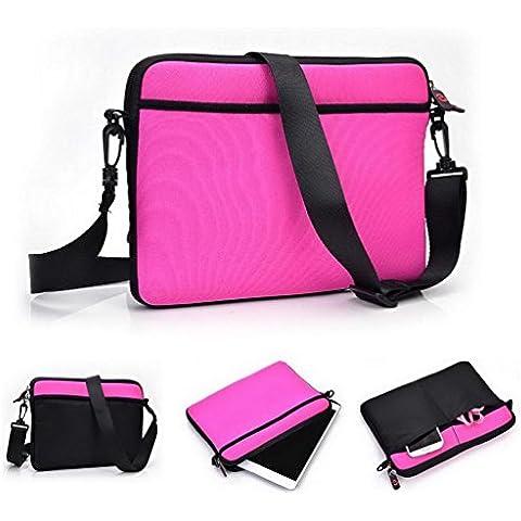 Kroo Custodia/Custodia/Borsa Per Il Trasporto con Tracolla per Tablet Prestigio MultiPad 4ULTIMATE 8.03G Tablet magenta Magenta