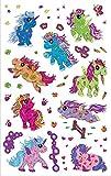 AVERY Zweckform 56063 Kinder Sticker Einhorn (Glitzerfolie) 15 Aufkleber