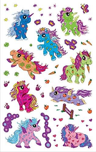 z de diseño 56063Niños pegatinas (Unicornio, purpurina pantalla adhesivo 15)