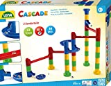 Lena 65289 Cascade - Pista Curva da assemblare, con 32 Elementi ferroviari, 2 Curve e 10 mattonelle in Vetro, per Bambini dai 3 Anni in su, Multicolore
