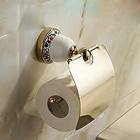 retrò europeo ceramica personalizzata porta rotolo coperto cremagliera bagno