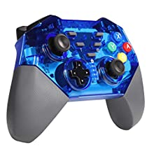 shumeifang Controller for Nintendo Switch, Nintendo Switch Controller Wireless Gamepad Joystick for Nintnedo Switch with Gyro Axis Dual Shock Vibration Wireless Gamepad for Nintendo Switch - Blue