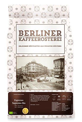Berliner Kaffeerösterei Espresso Supremo BIO 1000g, ganze Bohne, 1er Pack (1 x 1 kg)