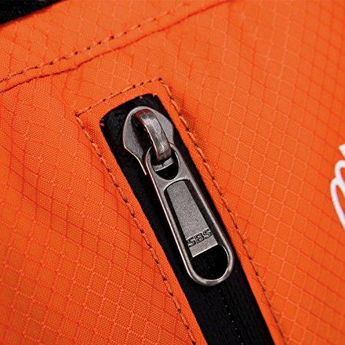 HWJF 10L Reitschulter Rucksack Outdoor Bergsteigen Bike Riding Kit mit Basketball Helm Red