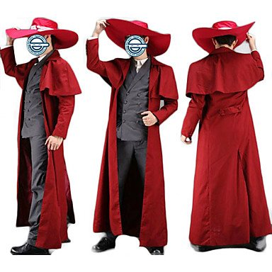 Hellsing Alucard Duster Cosplay Kostüm, Größe M:(171-175 CM) (Hellsing Cosplay Kostüm)
