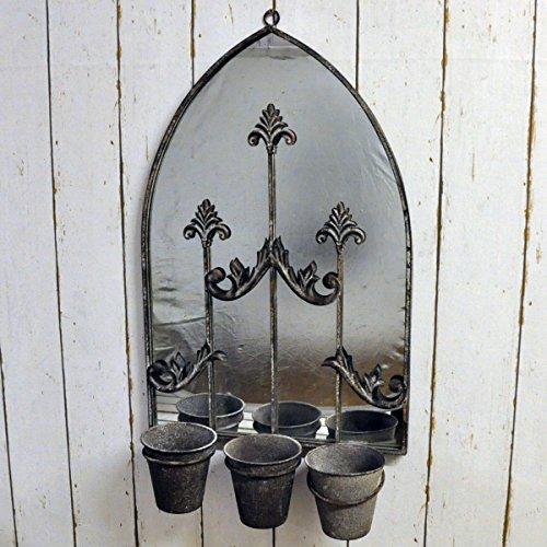Oxidado Metal Vintage Gótico Estilo Espejo de pared con Triple...