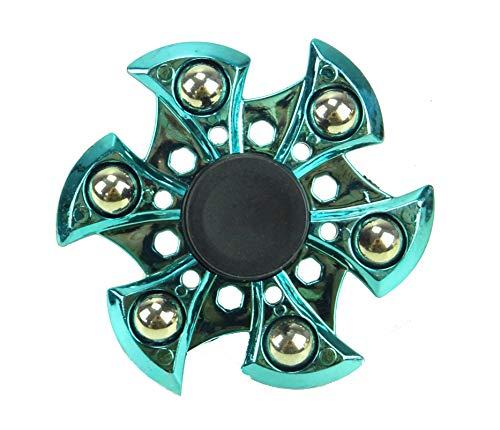 Toyland Spinarooz Hand Spinner Neuheit Spielzeug - Fidget Spinner - 3 in 1 - Jump, Bounce, Spin - Blue