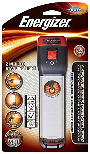 Energizer Taschenlampe 2 in 1 LED Standing Light (inkl. 4x AA-Batterien, 140 Lumen, wetterfest (IPX4)) (Batterien Aa-energizer)
