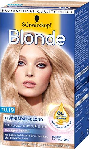 Blonde 10-19 Rosiges Pastell Eiskristall-Blond Aufheller, 3er Pack (3 x 143 ml)
