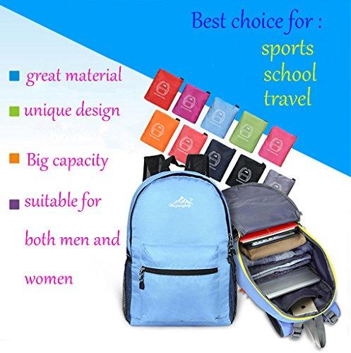 62267283c1dff ... Super Modern Unisex Nylon Sport Rucksack Schule Tasche faltbar Rucksack  Wasserdicht Wandern Rucksack Cool Leichte Laptop