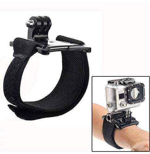 myGadgets - Fascia da polso a strappo con supporto per GoPro Hero 2, Hero3, Hero3, e altre fotocamere