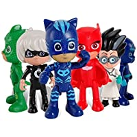 PJ Masks Juguetes 6 Pcs Figuras de dibujos animados populares en movimiento - PJ Masks Toys 6 Pcs Moving Figures Popular Cartoon Figure Toys