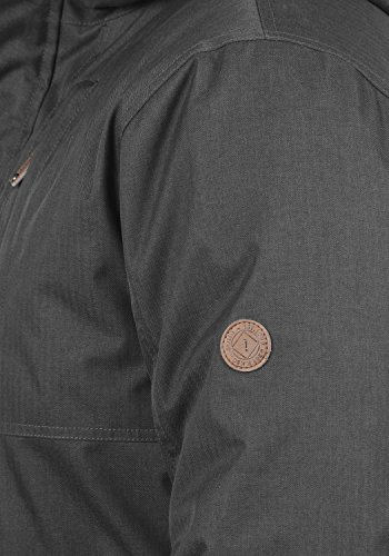 SOLID Bellippo Herren Winterjacke Jacke mit Tunnelzug und Kapuze aus hochwertiger Materialqualität Dark Grey (2890)