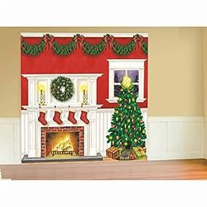kit d coration murale maison no l salle douillette sapin chemin e guirlandes festives. Black Bedroom Furniture Sets. Home Design Ideas