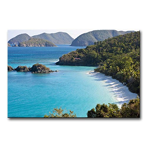 blau-art-wand-malen-trunk-bay-st-john-small-beach-mountain-bume-prints-auf-leinwand-das-bild-seascap