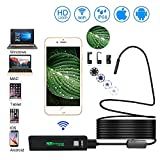 Wireless Endoskop IP68 wasserdichte Inspektionskamera 2,0 Megapixel 1200P HD Schlange borescope Kamera mit 8leds für Android und IOS Smartphone, iPhone, Samsung, Tablet - (5M / 16.4 FT)
