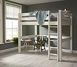 Promo Alfred & Compagnie - Lit mezzanine 140x200 barrières surélevées Lilja blanc